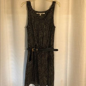 Collective concepts navy with cream dots dress